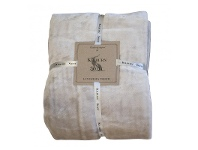 LivingStyles Kilburn & Scott Ultimate Fleece Throw, Natural