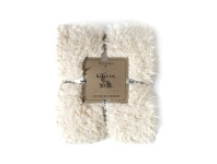 LivingStyles Kilburn & Scott Lined Faux Sherpa Throw, Cream