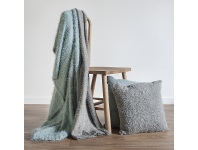 LivingStyles Boro Textured Cotton Throw, Silver