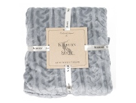 LivingStyles Kilburn & Scott Cable Fleece Throw, Grey