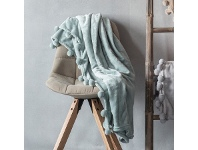 LivingStyles Patsy Throw, Duck Egg Blue