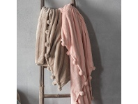 LivingStyles Patsy Throw, Blush