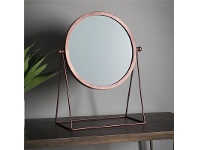 LivingStyles Wendy Metal Frame Table Top Mirror, Copper