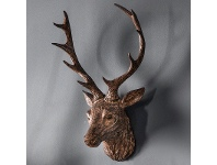 LivingStyles Arey Stag Head, Bronze