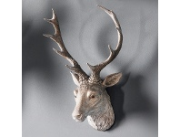 LivingStyles Arey Stag Head, White Wash