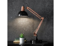 LivingStyles Wilson Metal Table Lamp, Black