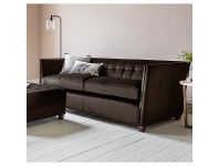 LivingStyles Louis Fabric 3 Seater Sofa, Brussels Espresso