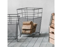 LivingStyles Lunde Metal Wire Storage Basket, Large