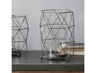 Mason Metal Wireframe Lantern, Large, Charcoal