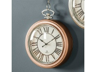 LivingStyles Oxford Pocket Watch Wall Clock, 24cm, Copper