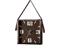 LivingStyles Seymour Square Hanging Wall Clock, 33cm