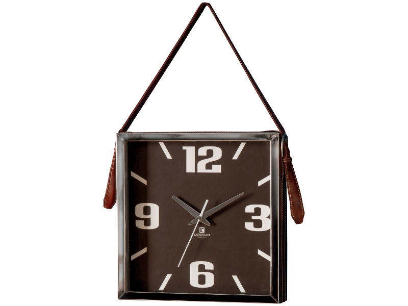 Oppdal Square Hanging Wall Clock, 33cm