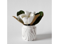 LivingStyles Faux Kapok in Marble Effect Jar