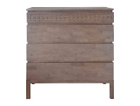 LivingStyles Baila Mango Wood 4 Drawer Chest