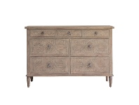 LivingStyles Mirren Mindy Ash Timber 7 Drawer Chest
