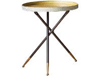 LivingStyles Elroy Tray Top Metal Tripod Side Table