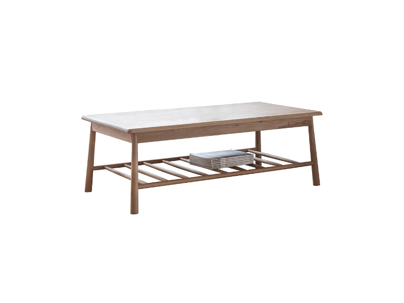 Willem Oak Timber Coffee Table, 120cm, Natural