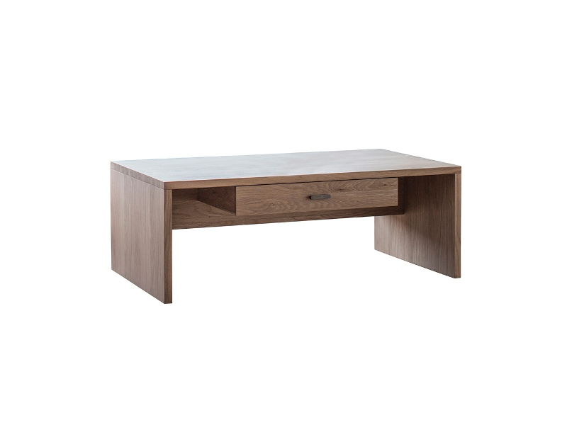 Esme Oak Timber Coffee Table with Drawer, 110cm
