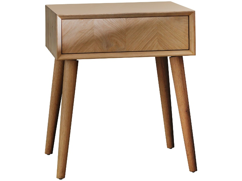Viterbo Wooden 1 Drawer Side Table