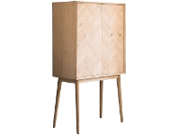 LivingStyles Viterbo Wooden 2 Door Cocktail Cabinet