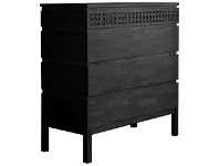 LivingStyles Baila Boutique Mango Wood 4 Drawer Chest