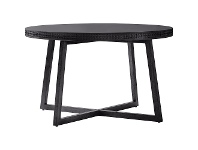 LivingStyles Assisi Boutique Mango Wood Round Dining Table, 120cm