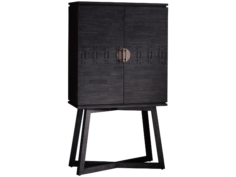 Boho Boutique Mango Wood 2 Door Cocktail Cabinet