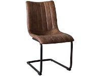 LivingStyles Erin Faux Leather Dining Chair, Set of 2, Tan