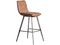 LivingStyles Polly Faux Leather Counter Stool, Set of 2, Tan