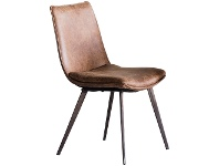 LivingStyles Henrik Faux Leather Dining Chair, Set of 2, Tan