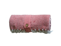 LivingStyles Kingsley Diamond Weave Cotton Throw, Blush