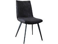 LivingStyles Henrik Faux Leather Dining Chair, Dark Grey