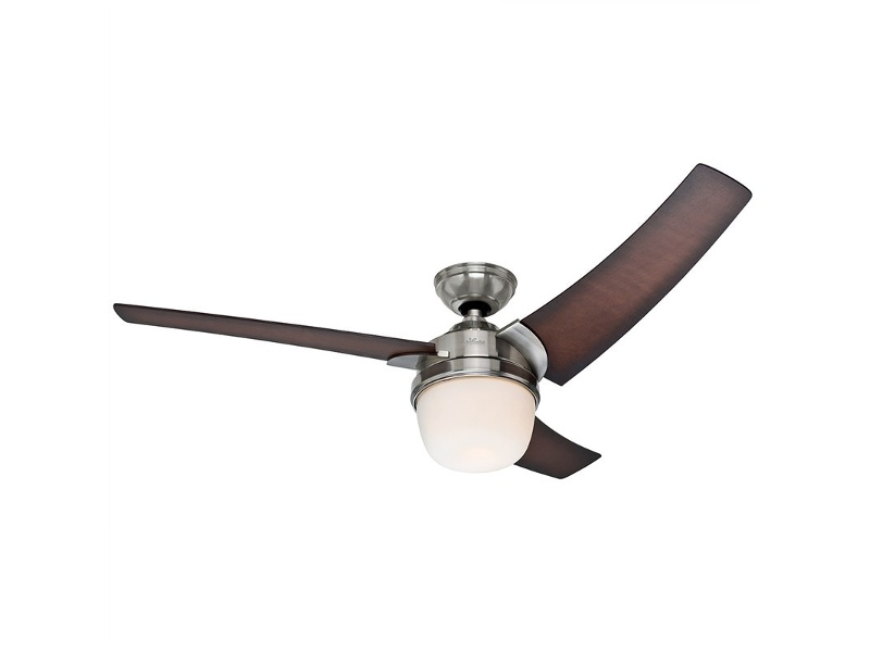 Hunter Eurus Brushed Nickel Ceiling Fan with Coffee Beech Blades