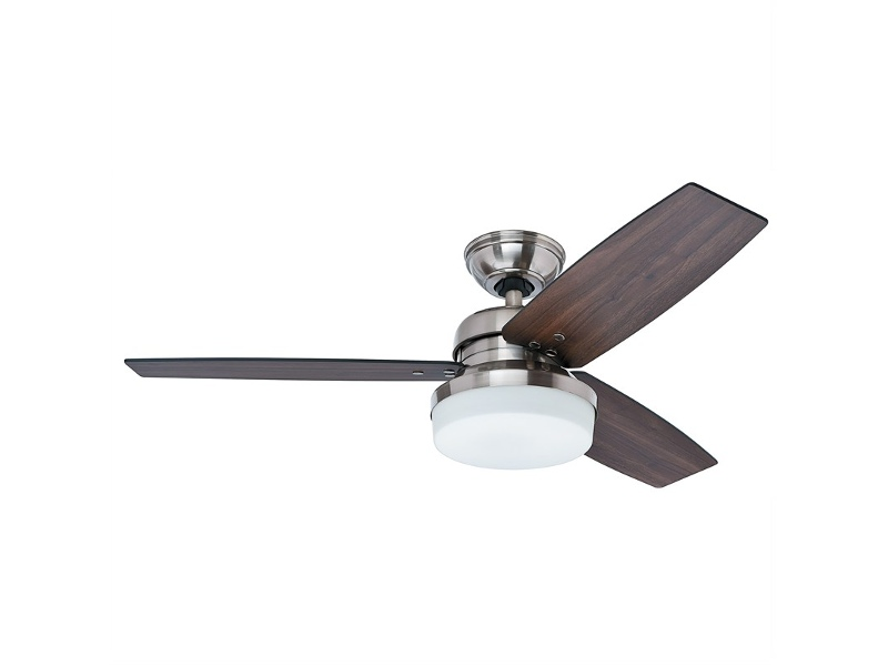 Hunter Galileo Brushed Nickel Ceiling Fan with Dark Walnut / Dark Oak Switch Blades