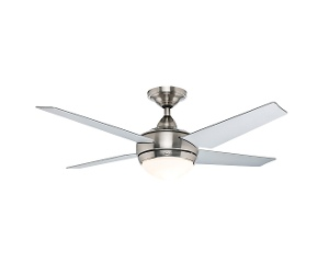 Hunter Sonic Contemporary Ceiling Fan with Light, Brushed Nickel with Grey Blades