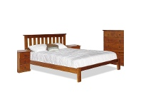LivingStyles Alford Pine Timber Bed, Double