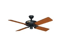 LivingStyles Hunter Original Black Ceiling Fan with Walnut / Cherry Switch Blades