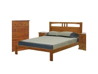 LivingStyles Crestwood Double Bed in Blackwood