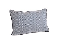 LivingStyles Candace Feather Filled Lumbar Cushion, Blue Chevron