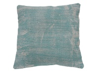 LivingStyles Heda Cotton Scatter Cushion, Washed Aqua