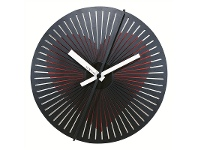 LivingStyles NeXtime Motion Heart Metal Round Wall Clock