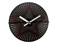 LivingStyles NeXtime Motion Star Metal Round Wall Clock