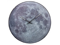 LivingStyles NeXtime Moon Luminous Round Dome Wall Clock