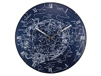 LivingStyles NeXtime Milky Way Luminous Round Dome Wall Clock