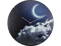 LivingStyles NeXtime New Moon Luminous Round Dome Wall Clock
