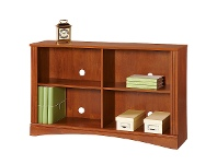 LivingStyles Cubic Low Bookcase, Brushed Maple