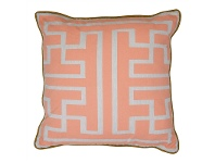 LivingStyles Maize Fabric Scatter Cushion, Peach