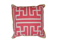 LivingStyles Maize Fabric Scatter Cushion, Fushia
