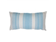 LivingStyles Sole Striped Fabric Lumbar Cushion, Blue