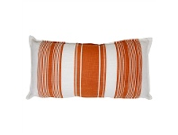 LivingStyles Sole Striped Fabric Lumbar Cushion, Copper